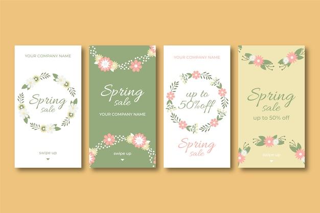 素敵な春のセールinstagramストーリー 無料ベクター