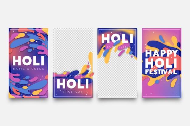 Холи фестиваль сборник рассказов instagram с прозрачным фоном Бесплатные векторы