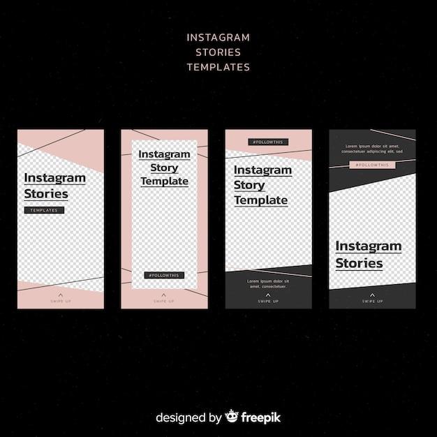 Простой шаблон истории instagram Бесплатные векторы