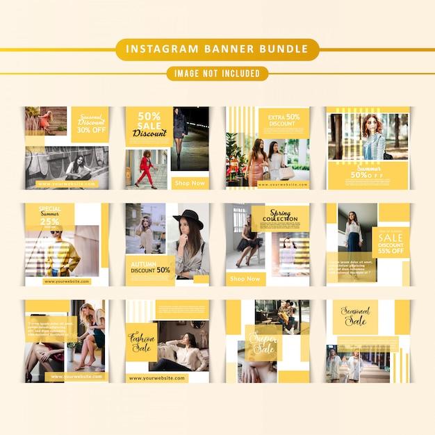 Маркетинг бизнес instagram охватывает Premium векторы