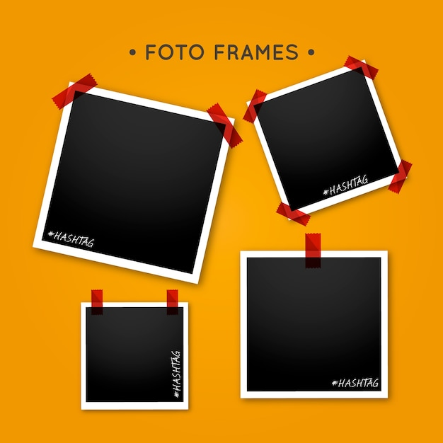 Instant frame collection Free Vector