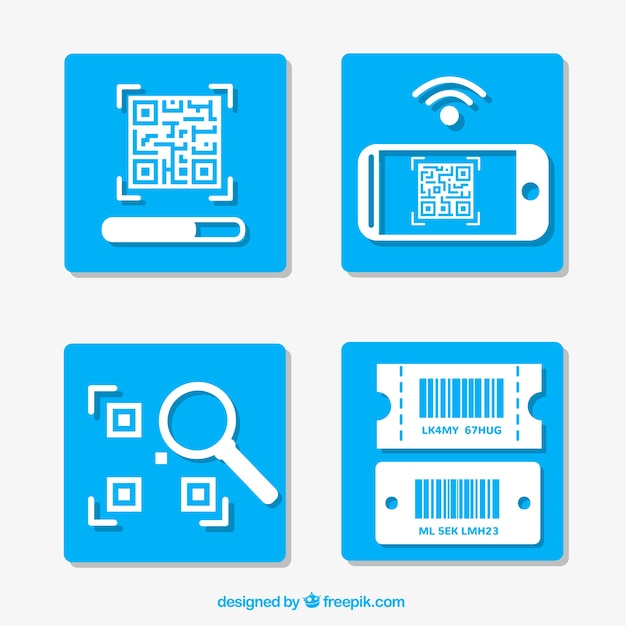 Instructions for using a qr code Free Vector