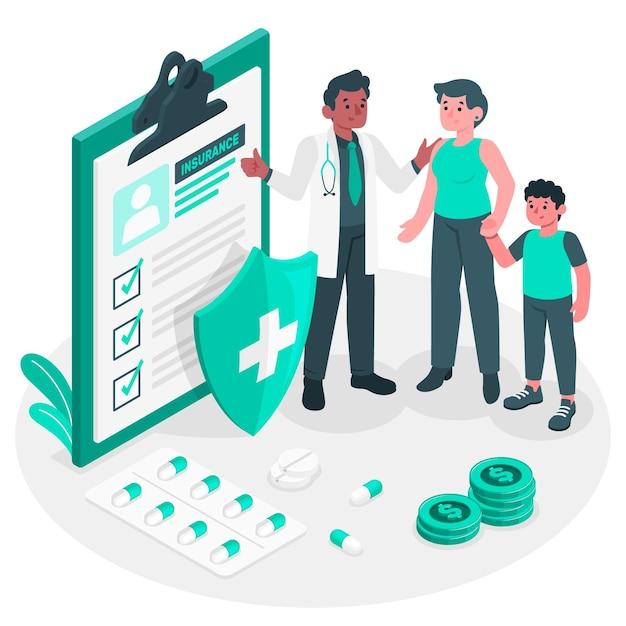 Insurance concept illustration Free Vector