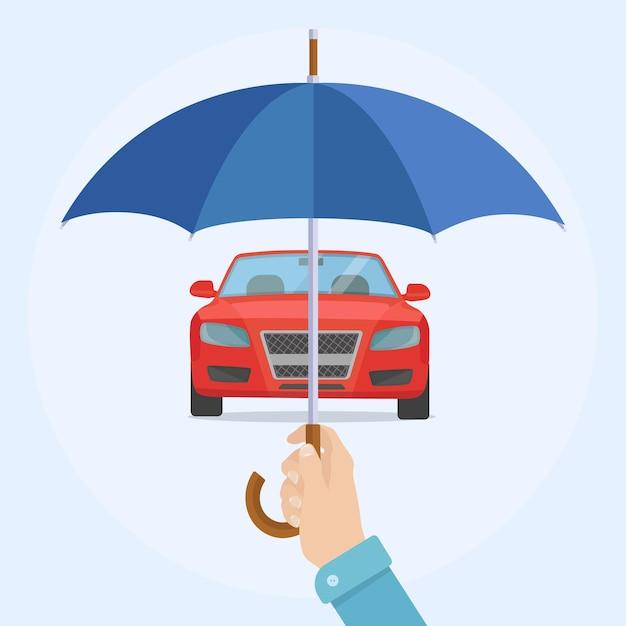 交通事故、盗難時の保険防衛 Premiumベクター