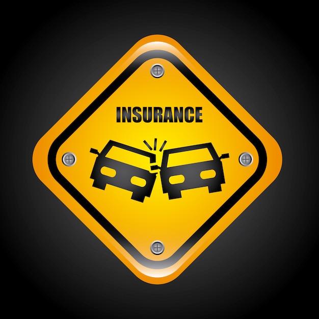 保険のグラフィックデザインのベクトル図 無料ベクター