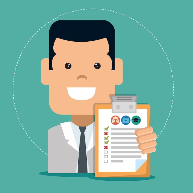 Агент по страховой услуге Premium векторы