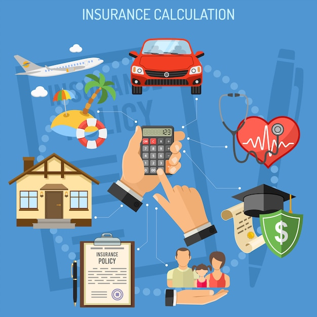 Insurance services calculation Premium Vector