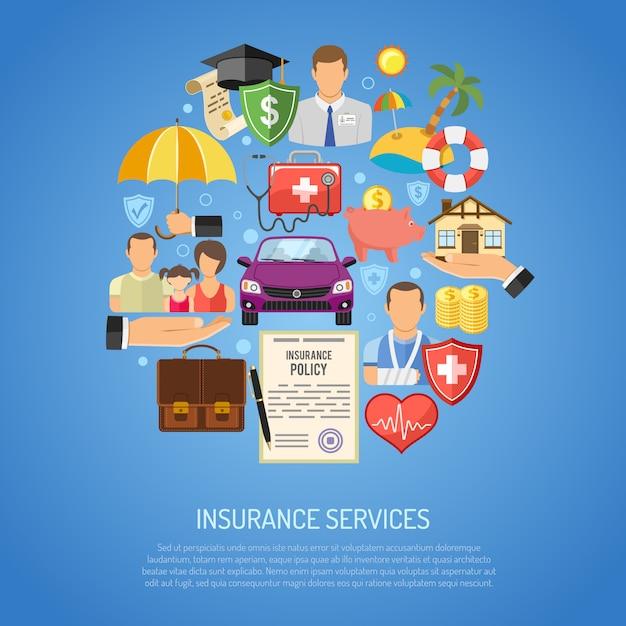Insurance services concept Premium Vector