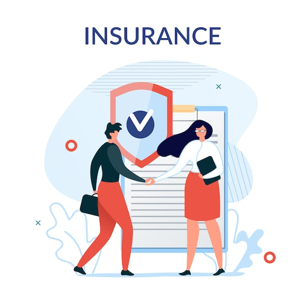 Insurance services presentation background Premium Vector