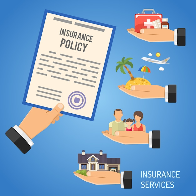Insurance services Premium Vector