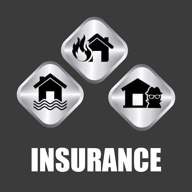 Insurance simple element Free Vector