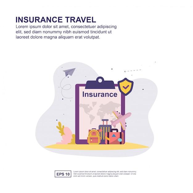 Insurance travel concept Premium Vector