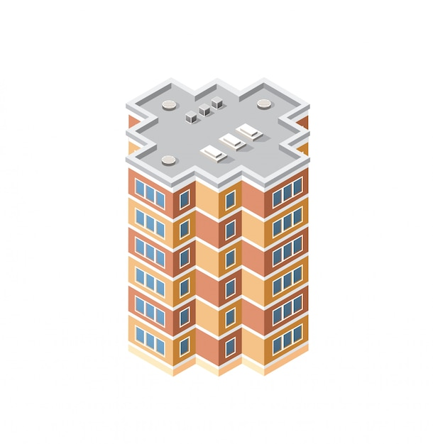 The intelligence building home Premium Vector