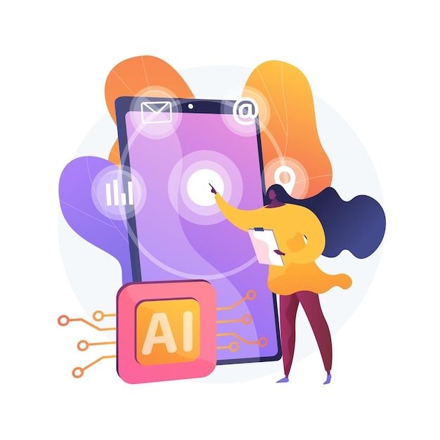 Intelligent interface abstract concept illustration Free Vector
