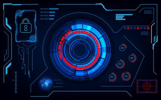 Premium Vector | Interface futuristic hud ui sci fi design ...