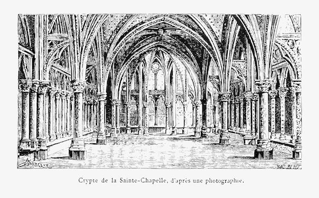 Interior of a church Free Vector