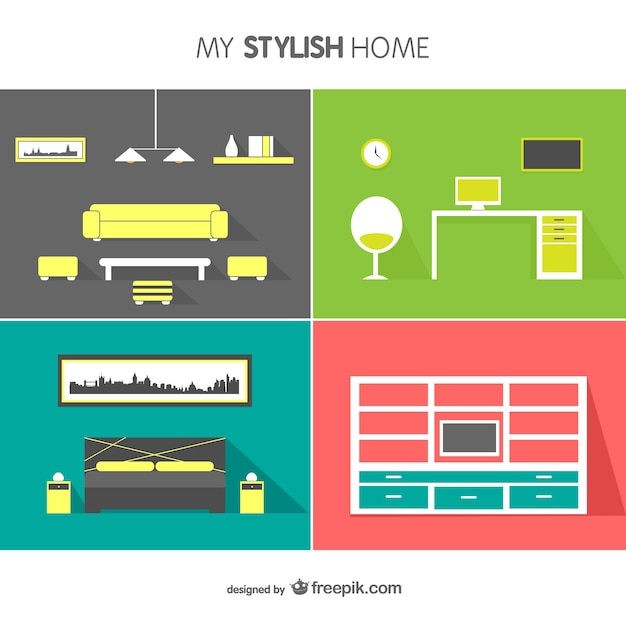 interior design vector free vector - Free Download Interior Design