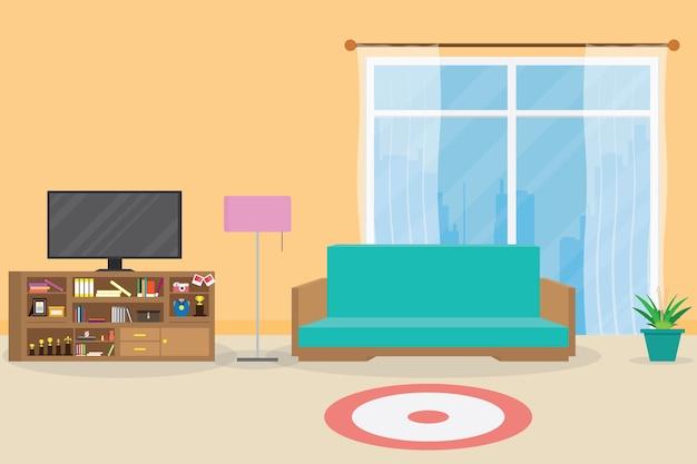 Interior living room Vector | Premium Download