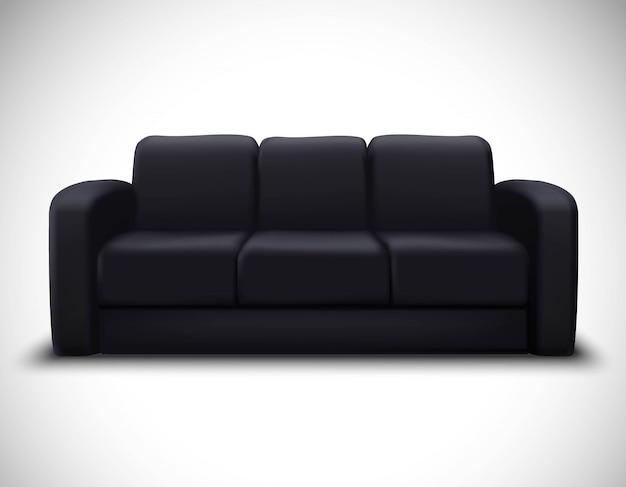 Interior mockup realistic element sofa poster Free Vector