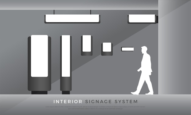 Interior signage Premium Vector