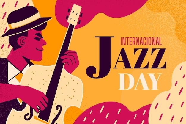 Празднование международного джазового дня Бесплатные векторы