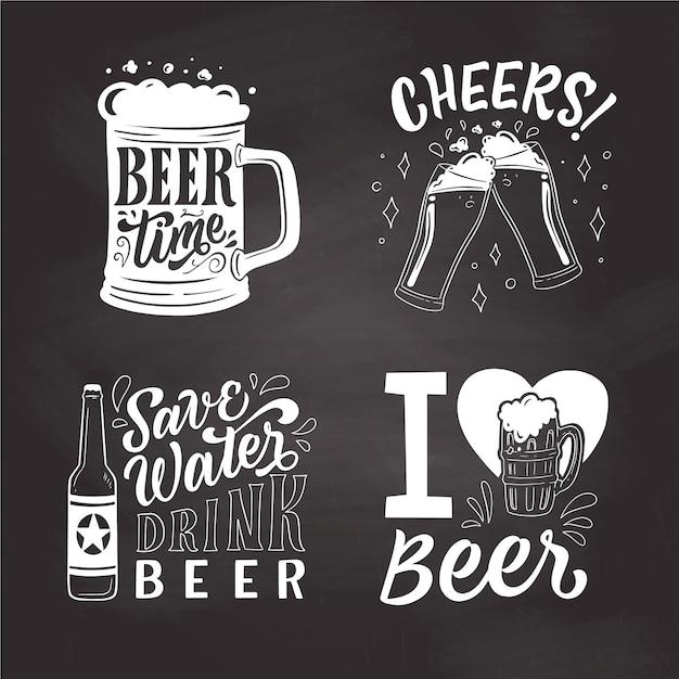 Distintivi della giornata internazionale della birra Vettore gratuito