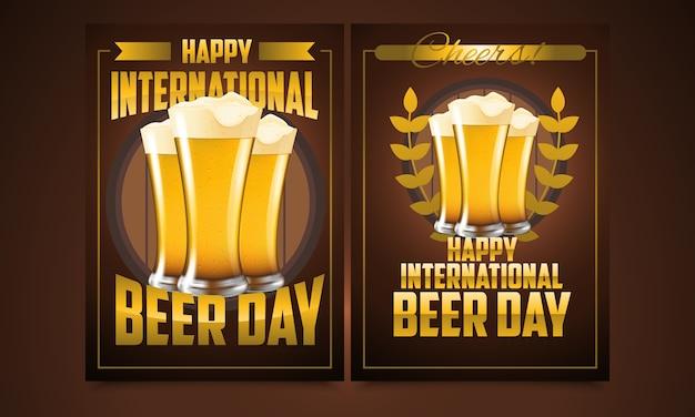 Международный день пива Premium векторы