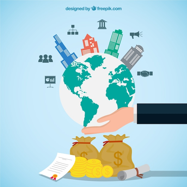 International business concept vector free download for International design company