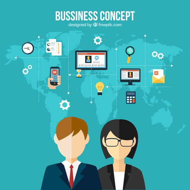 International business conept Premium Vector