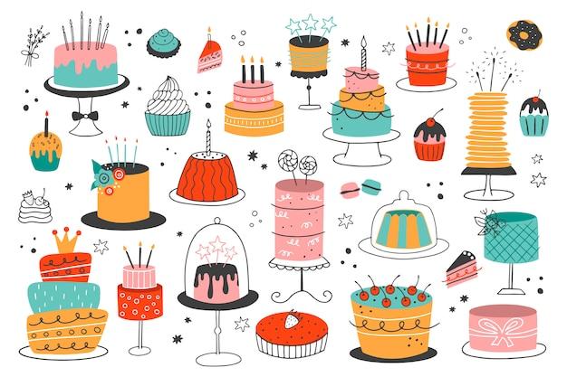 Международный день торта. Premium векторы