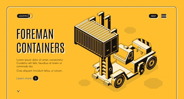 International cargo delivery company banner Free Vector