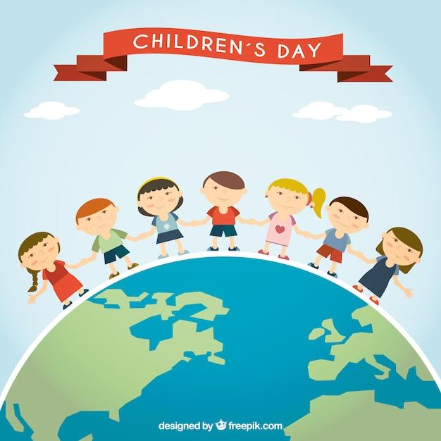 International children's day illustration Vector | Free ...