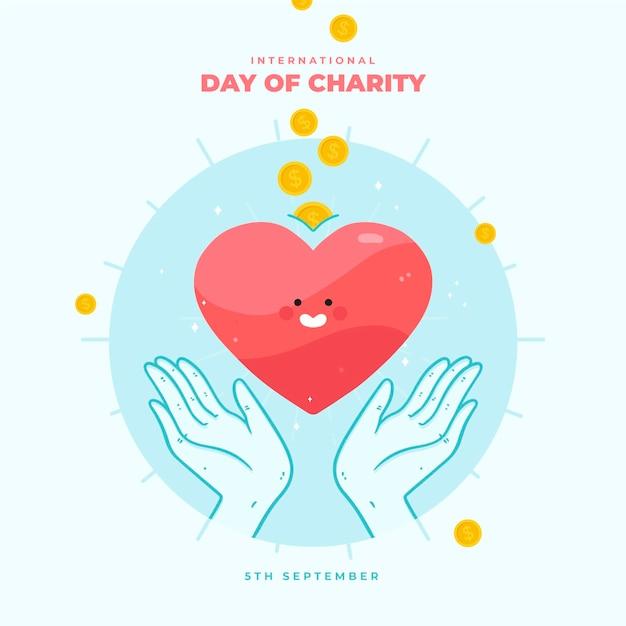 Giornata internazionale della carità con il cuore Vettore gratuito