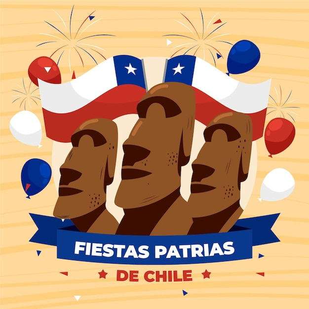 International day of chile Free Vector