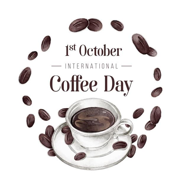 Giornata internazionale del caffè Vettore gratuito