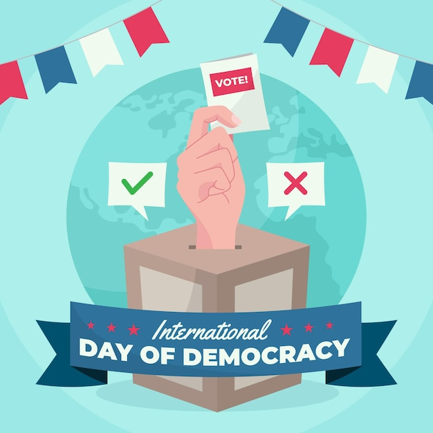 Giornata internazionale del concetto di democrazia Vettore gratuito