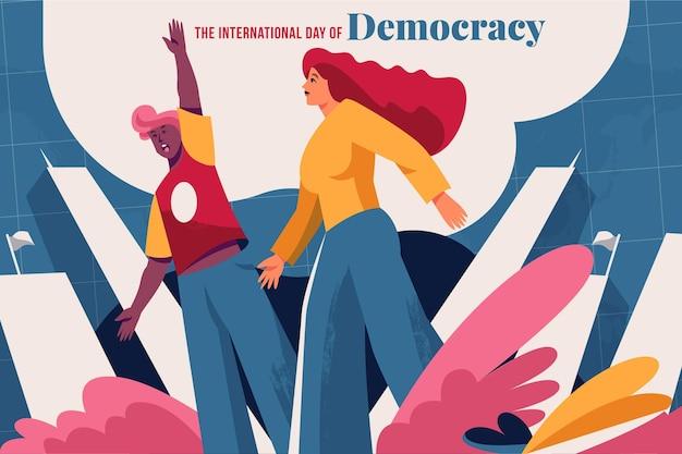 International day of democracy concept Premium Vector