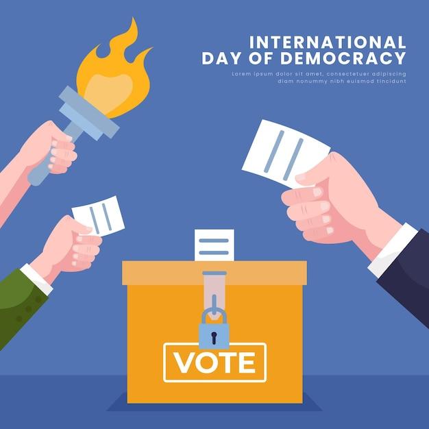 Giornata internazionale della democrazia con voto Vettore gratuito