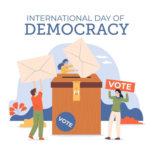 Giornata internazionale della democrazia Vettore gratuito