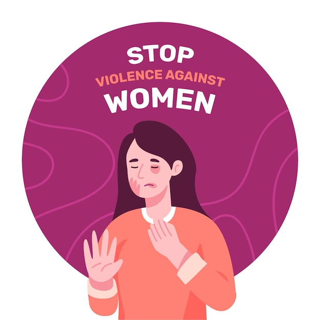 International day for the elimination of violence against women background with female Free Vector