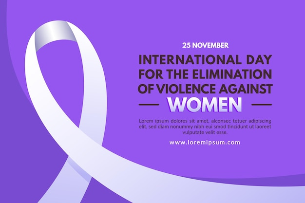 International day for the elimination of violence against women background Premium Vector