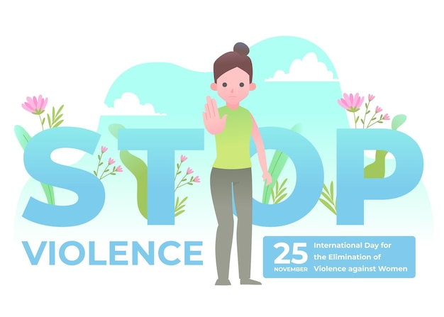 International day for the elimination of violence against women Free Vector
