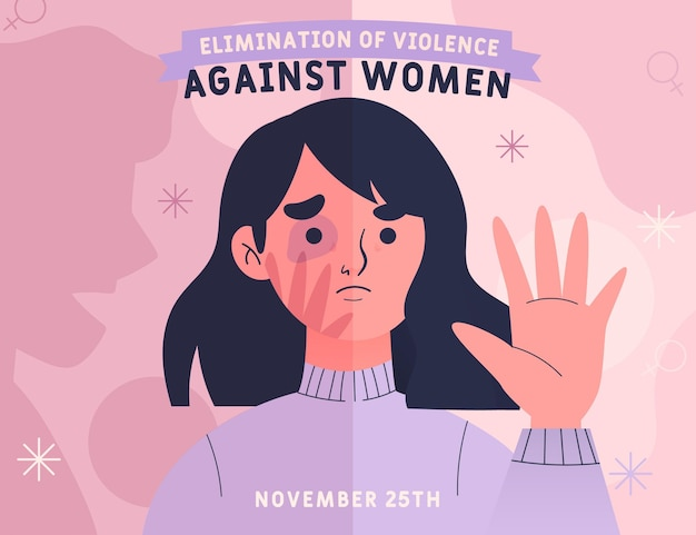 International day for the elimination of violence against women Premium Vector