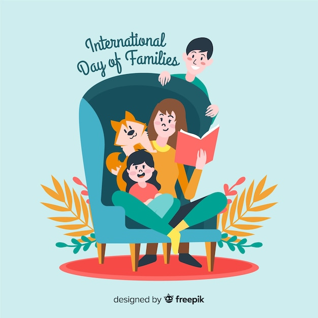 International day of families background Free Vector