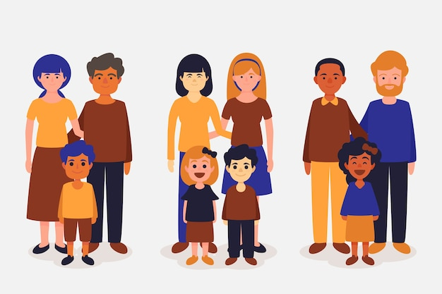International day of families concept Free Vector