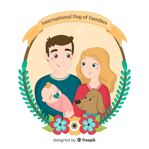 International day of families Free Vector