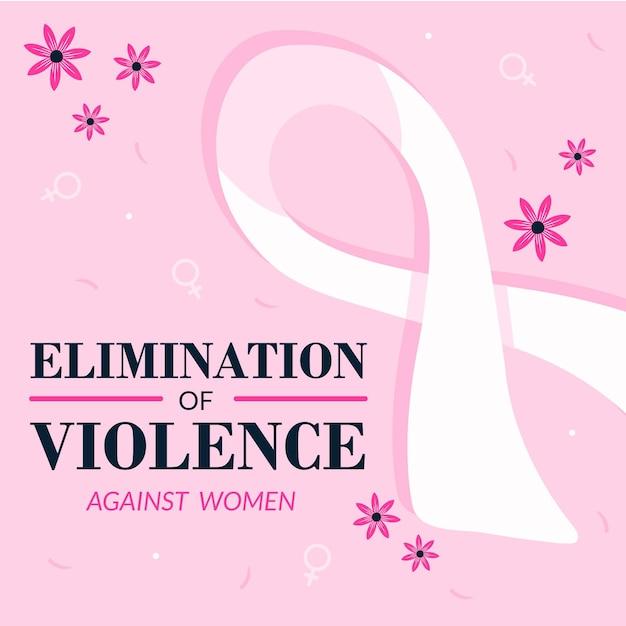 Информационная лента международный день борьбы за ликвидацию насилия в отношении женщин Бесплатные векторы