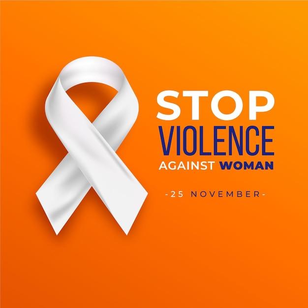 女性に対する暴力をなくすための国際デー 無料ベクター