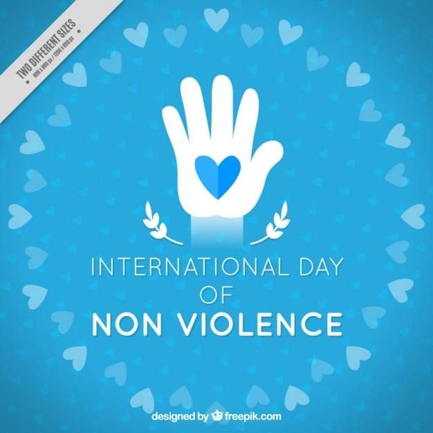 International day of non violence background Free Vector