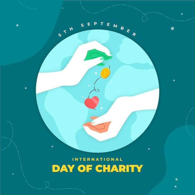 慈善の国際デー 無料ベクター